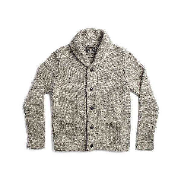 Ralph Lauren Rrl Cotton Shawl-Collar Cardigan ($495) ❤ liked on ...