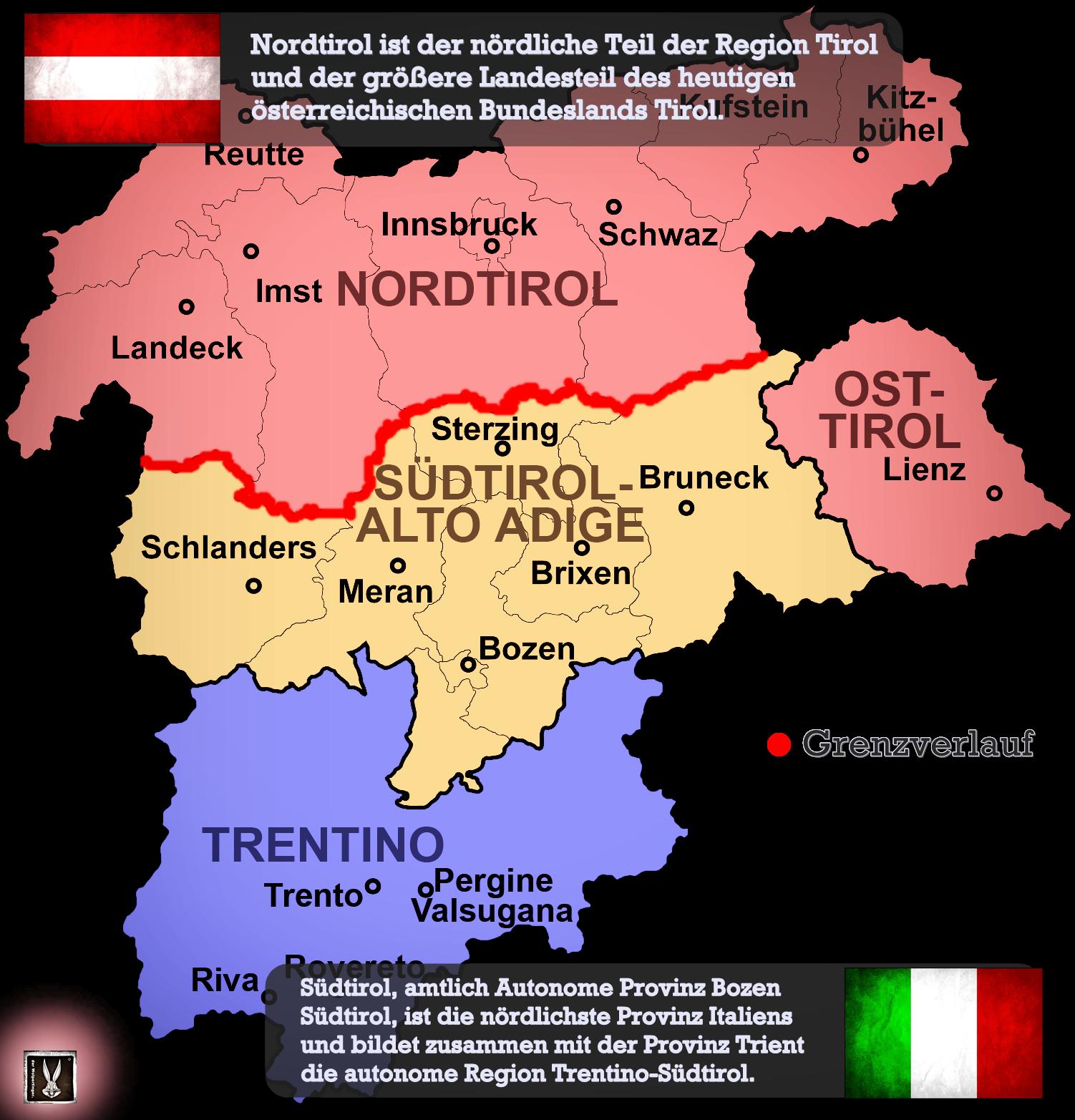 Sudtirol Karte Osterreich Italien.Italien Osterreich Der Fall Sudtirol Italien
