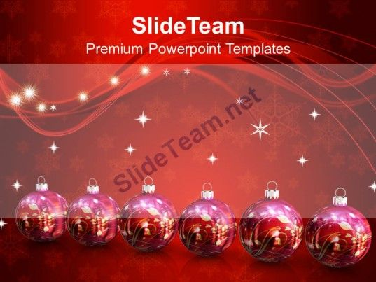 Winter Holidays Christmas Balls 2013 New Year Festival Powerpoint - winter powerpoint template