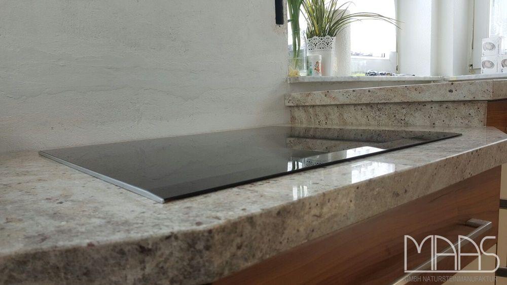 Mondariz ist ein brauner Granit mit einigen cremefarbenen Flocken - granit arbeitsplatte küche