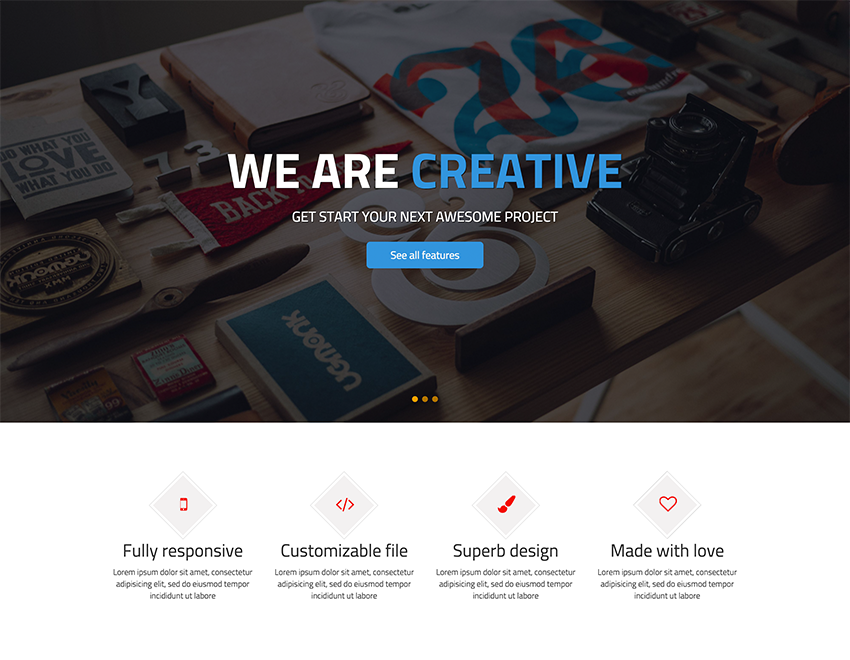 Fimply - Free One Page HTML Website Template | ShapeBootstrap ...