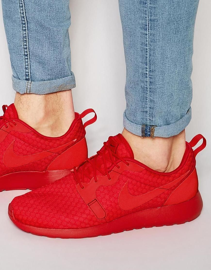 new arrival 0871f a0b6d Raudoni kedai   Nike   Roshe One Hyp Trainers 636220-660 - Red - ASOS.com    ShopSpy.lt