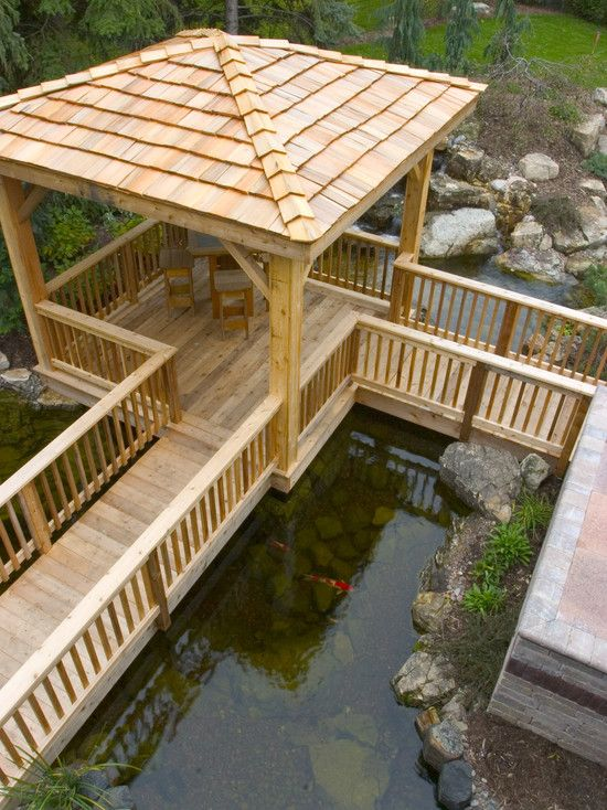 Fish pond pot design pictures remodel decor and ideas for Wooden pond ideas