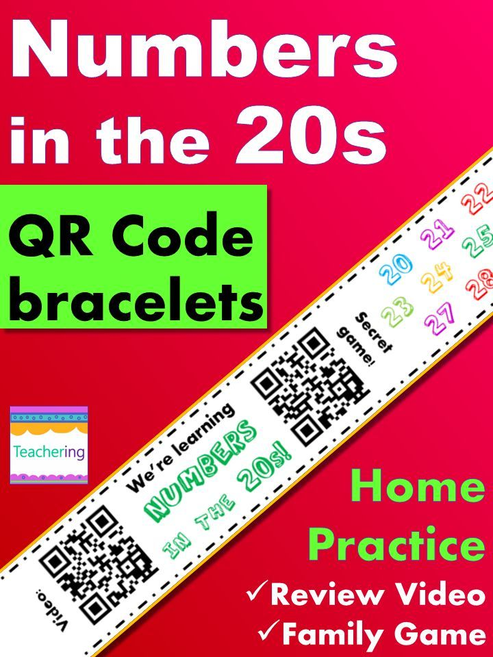 Numbers in the 20s Homework {Bracelet with review video & family