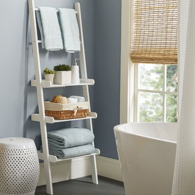Varick gallery lower west side bathroom shelf reviews for Bathroom decor ladder