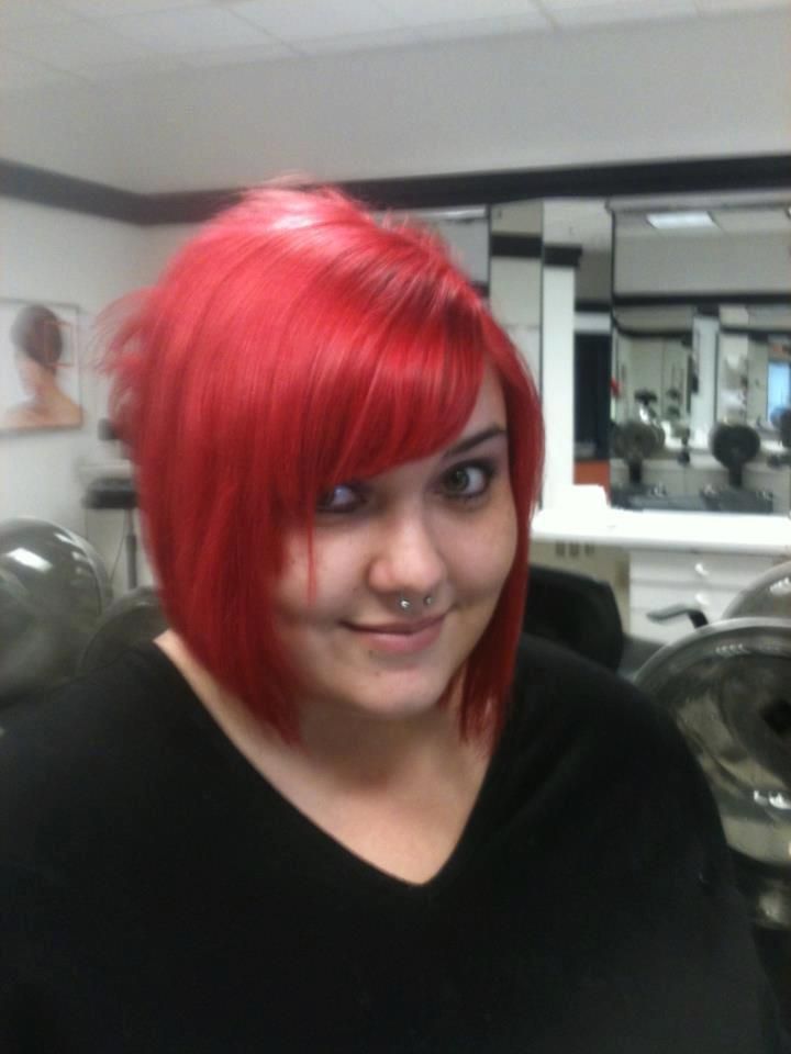 Fire Engine Red Hair Did The Cut Color And Style Red Hair