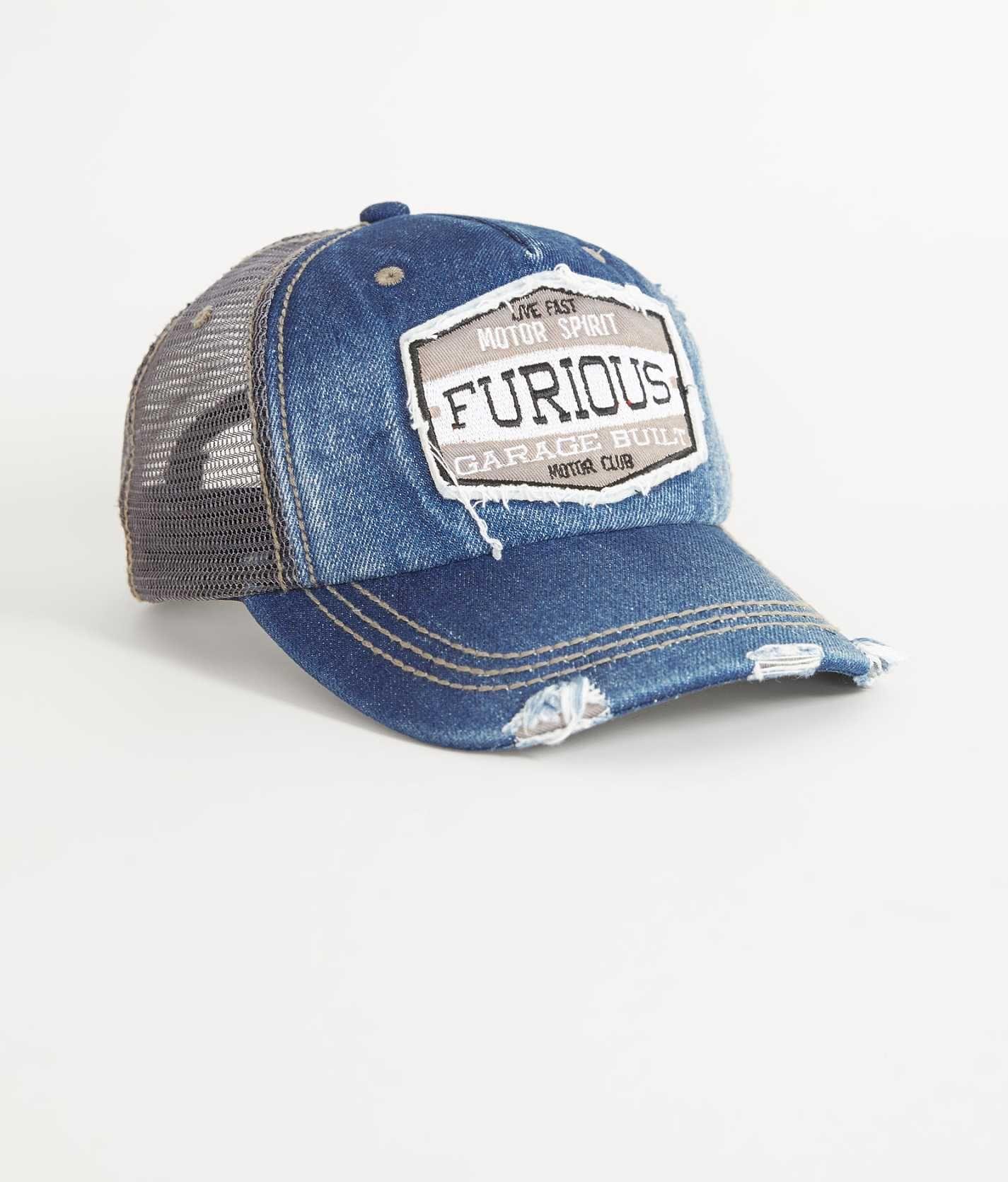 9e6f4dbf9e158 Fast   Furious Burnout Trucker Hat - Men s Hats in Denim