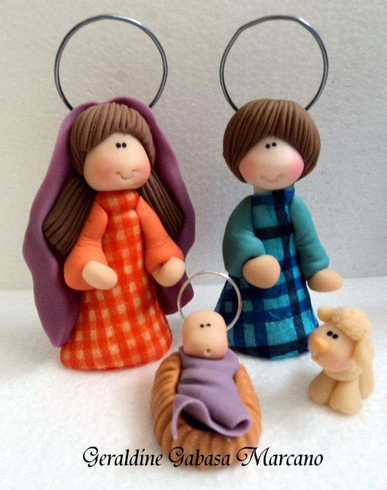 Nacimiento pesebre navidad masa flexible porcelana fria for Ceramica para modelar
