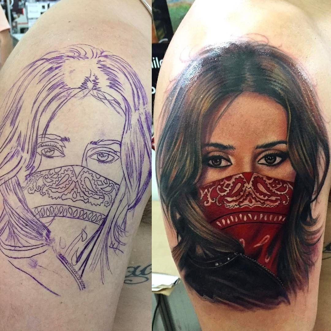 Tatuagem realista por Camilo Tuero tattoo tatuagem