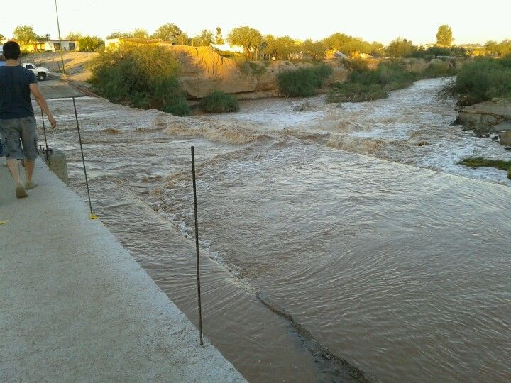 Sonoyta Mexico flood. First time sleeping in parking lot at border. Never made it to Cholla Bay.