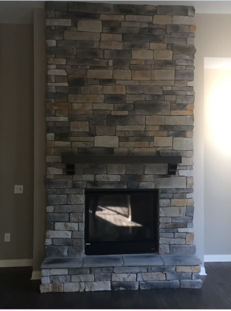 Prestige, Weathered Ledge Stone, Floor/Ceiling Stone · Fireplaces