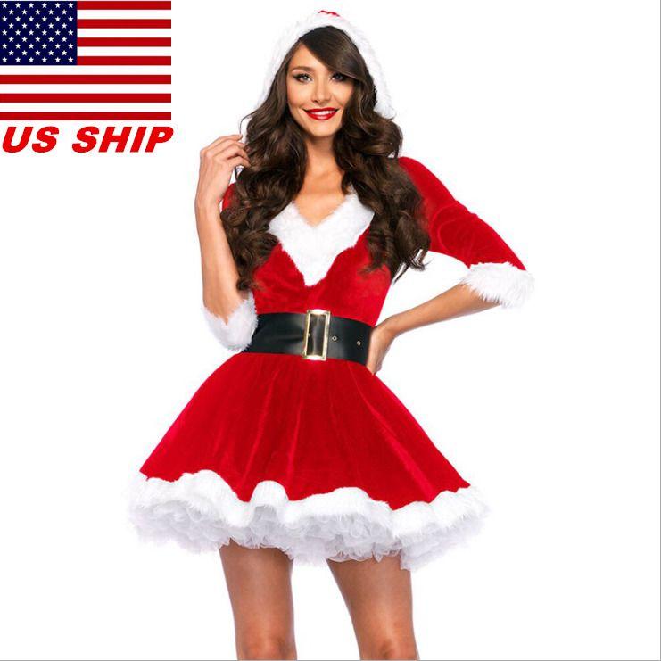 Mrs Santa Claus Christmas Fancy Dress Xmas Christmas Dress Cosplay Costume 2019
