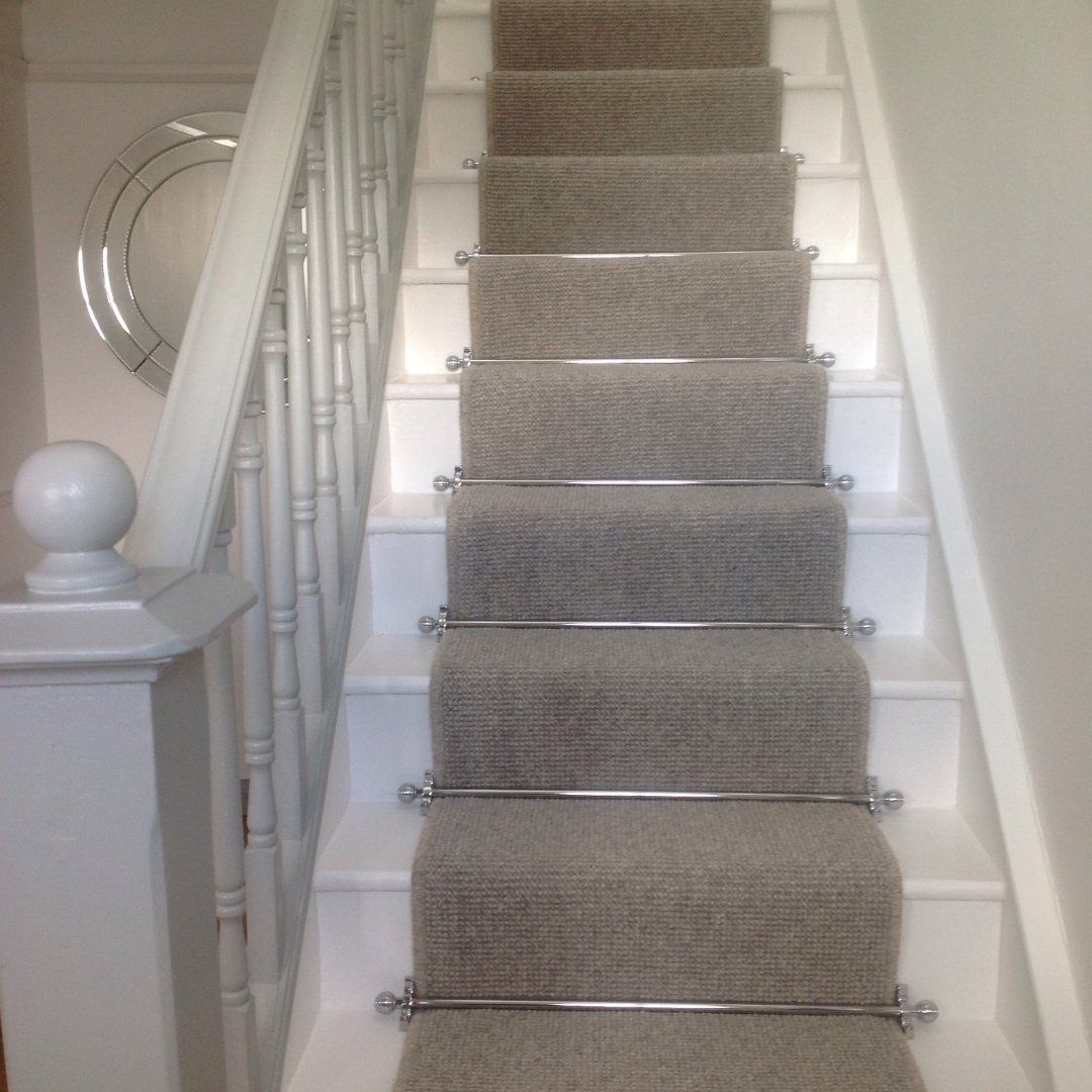 Painting Interior Stairs Black And White Staircase With Carpet All | Black And White Stair Carpet | Entry Hall | Square Pattern | Luxurious | American Style | Small Space