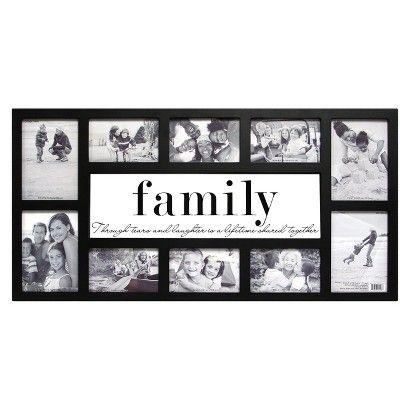10 opening family frame glass target
