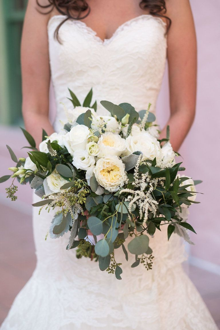 Elegant White Gold And Cream Downtown St Pete Garden Wedding