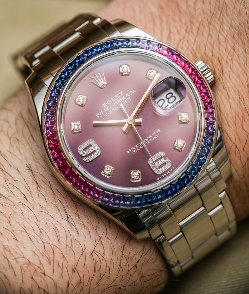 "Rolex​ Datejust Pearlmaster 39 Watches With New 3235 Movement For 2015 Hands-On - by Ariel Adams - on aBlogtoWatch.com ""For 2015, Rolex added a new member to the Pearlmaster watch family with the Rolex Datejust Pearlmaster 39 - debuted here in a range of interesting stone-decorated varieties. This is exactly the type of watch that allows Rolex to both earn its merit among certain audiences and, at the same time, annoy fans of the brand mostly interested in their more classic sport…"