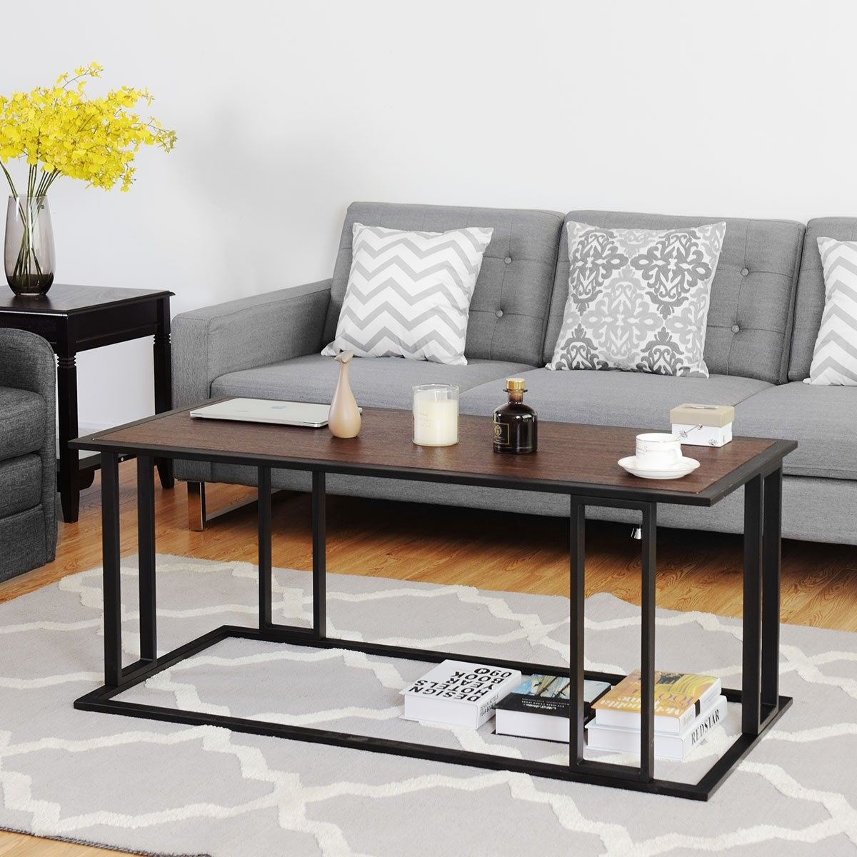 Living Room Essentials Cocktail Accent End Coffee Table Coffee