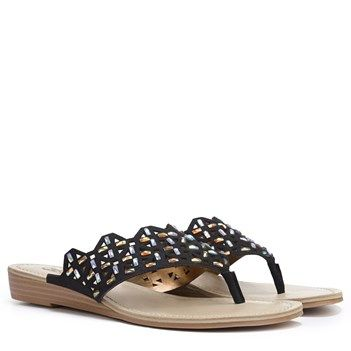 Womens Sandals CARLOS by Carlos Santana Cort Black