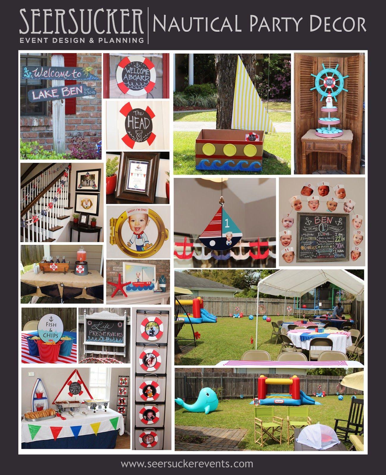 Diy Kids Nautical Birthday Party Event Decor Menu