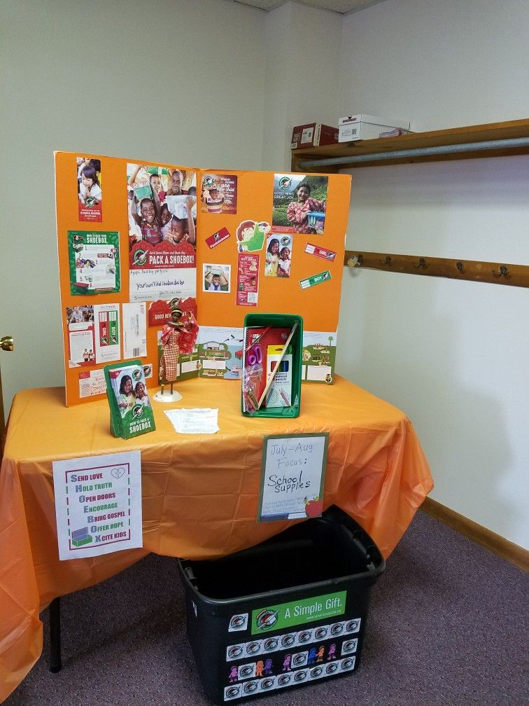 Display table 2020 in 2020 Operation christmas child