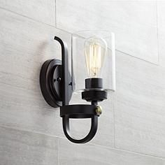 Eagleton 12 High Oil Rubbed Bronze Wall Sconce Bronze Wall