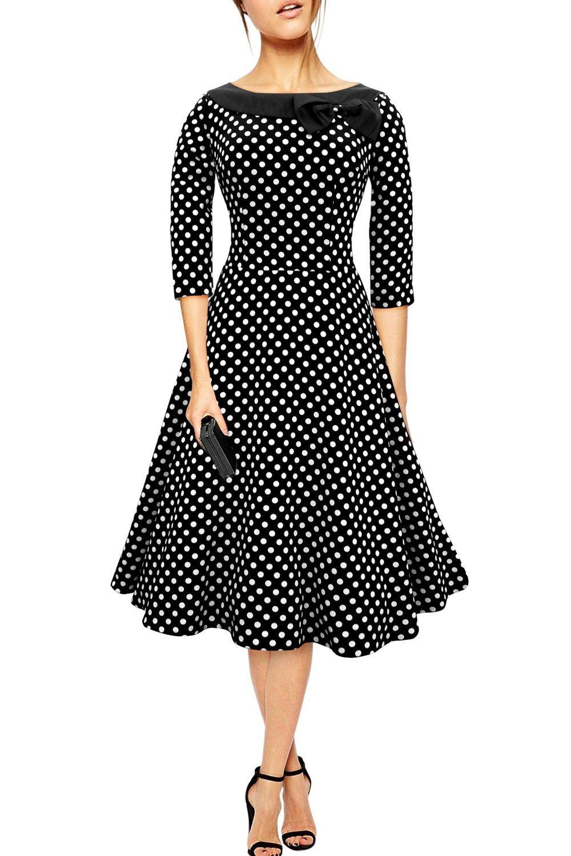 Black Butterfly Robe Avec Col À Pois Années 50  Iris   Amazon.fr  Vêtements  et accessoires 8ac4edd5f56