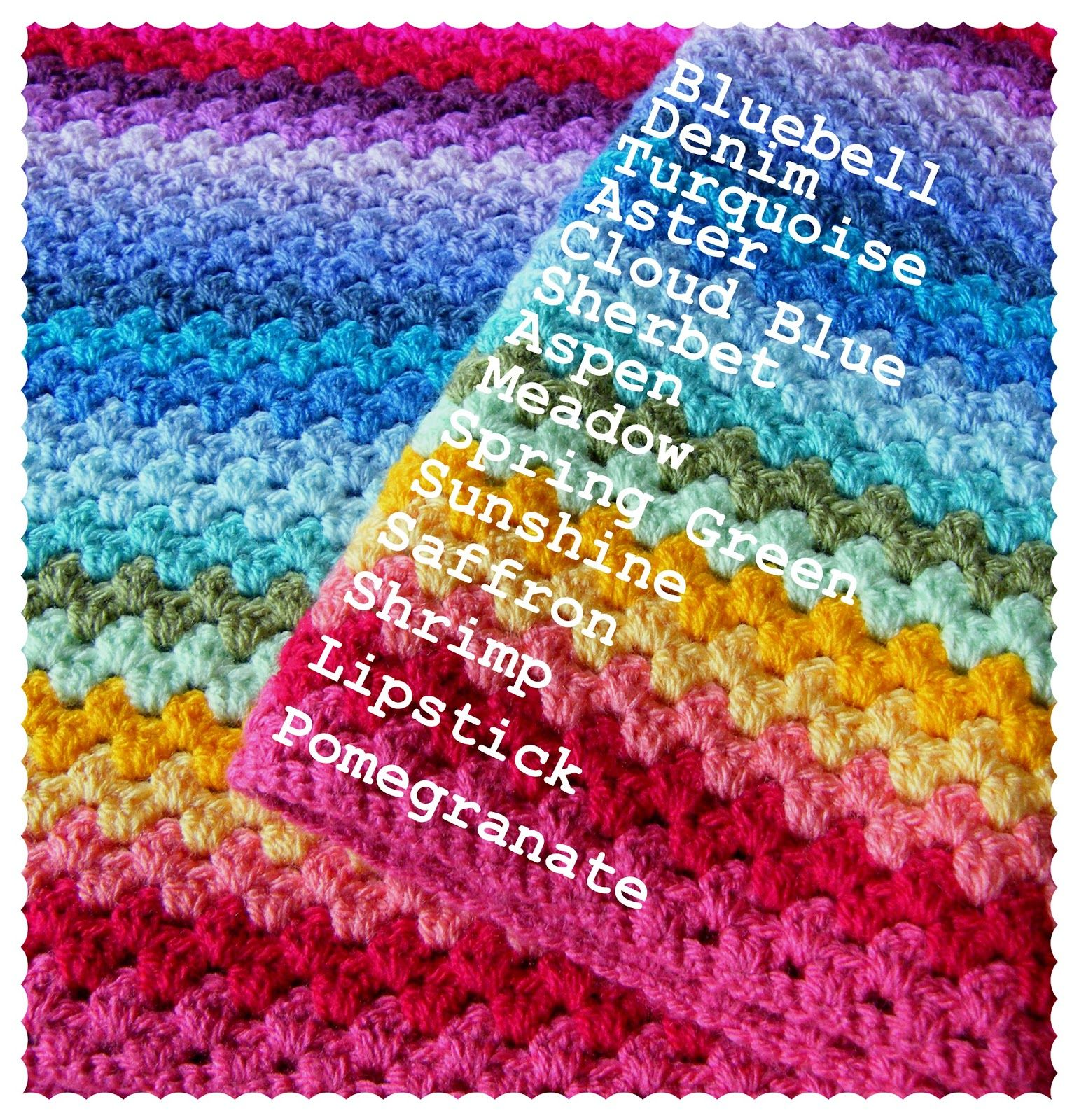 Annie\'s Place: Granny Stripe Colour Sequence - for rainbow afghan ...