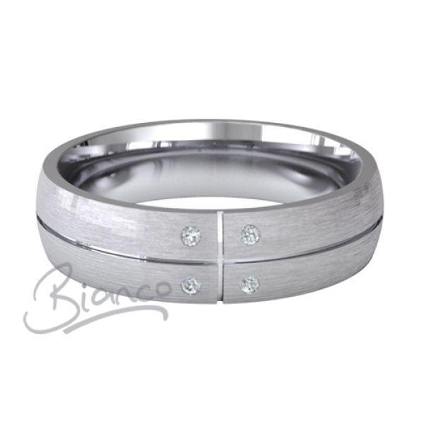 d5ac871b6b7c3 18ct White Gold Court Diamond Wedding Ring Solido 4 to 6mm | 18ct ...