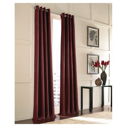 Curtainworks Messina Lined Curtain Panel - BORDEAUX