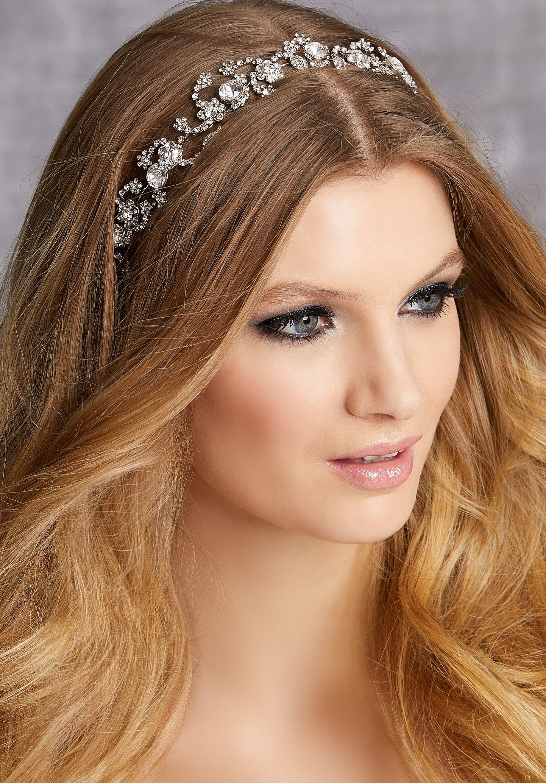 Crystal and rhinestone hair vine rhinestone headband