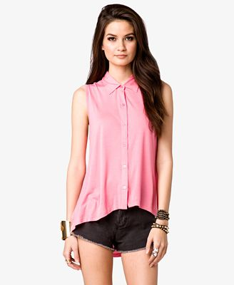Lace High-Low Shirt | FOREVER21 - 2031557283