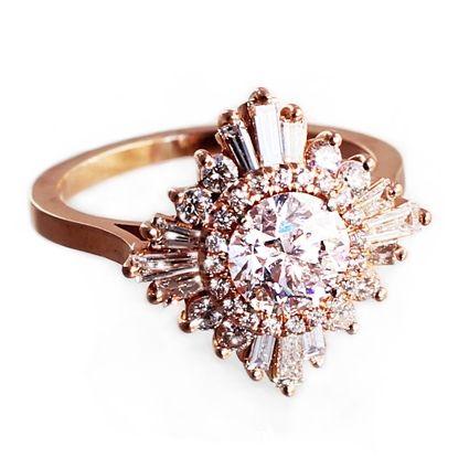 Heidi Gibson Ring Wedding Rings Vintage Vintage Inspired Engagement Rings Art Deco Engagement Ring