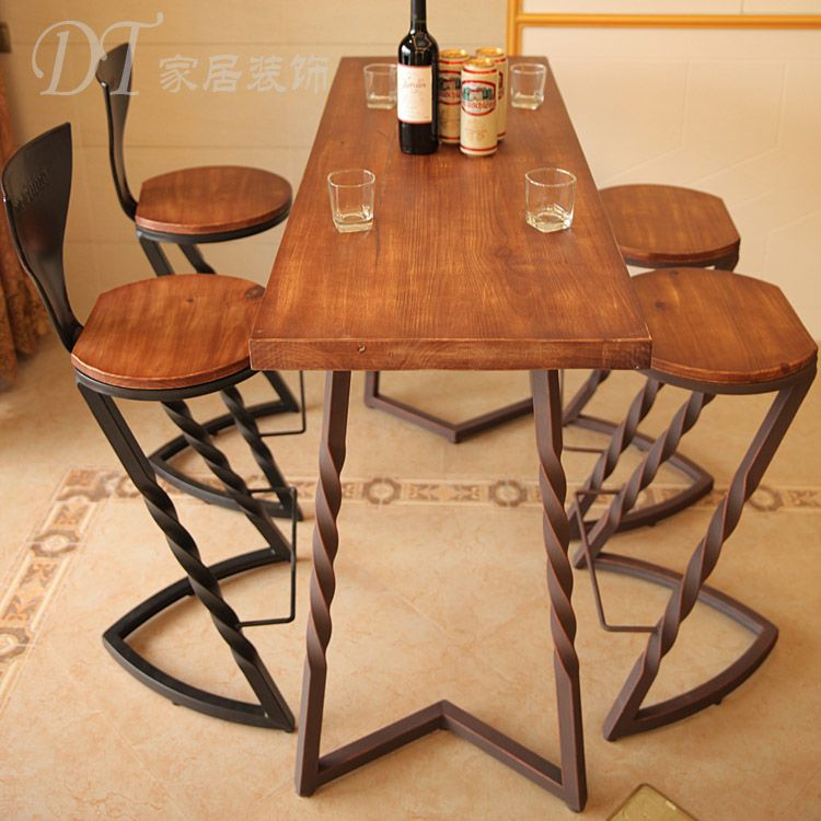 Banquetas hierro buscar con google from pinterest for Bar de madera y fierro