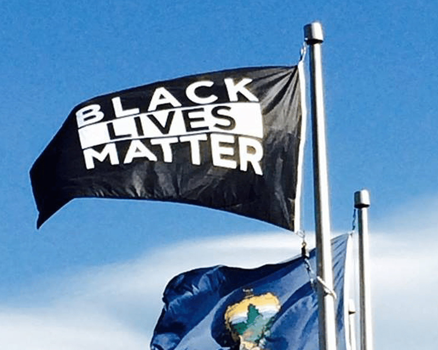This is what happens when a black lives matter flag is hoisted at symbol of justice symbol of hate or just a piece of fabric debate over biocorpaavc Images