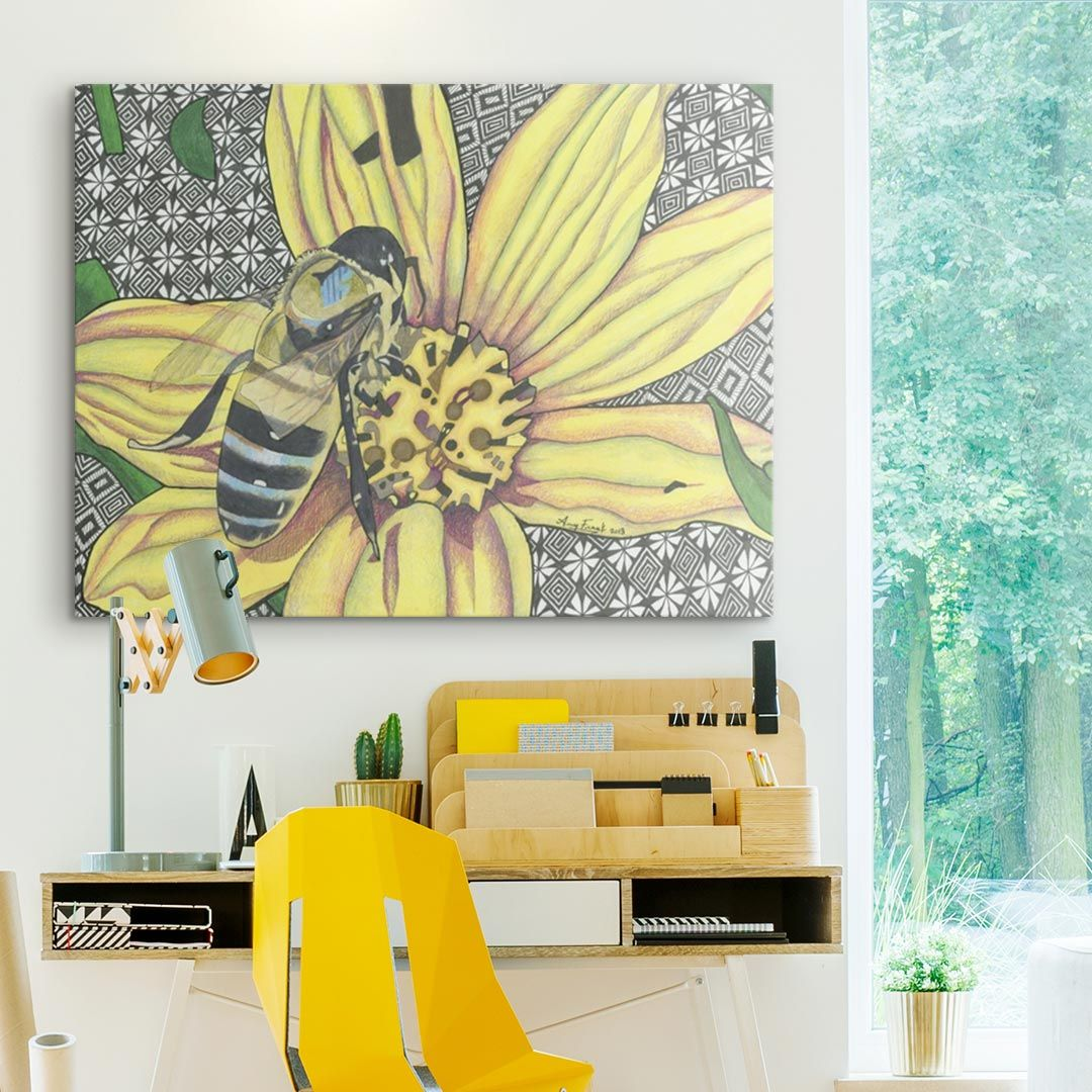 The Bee | Bees, Framed prints and Canvases