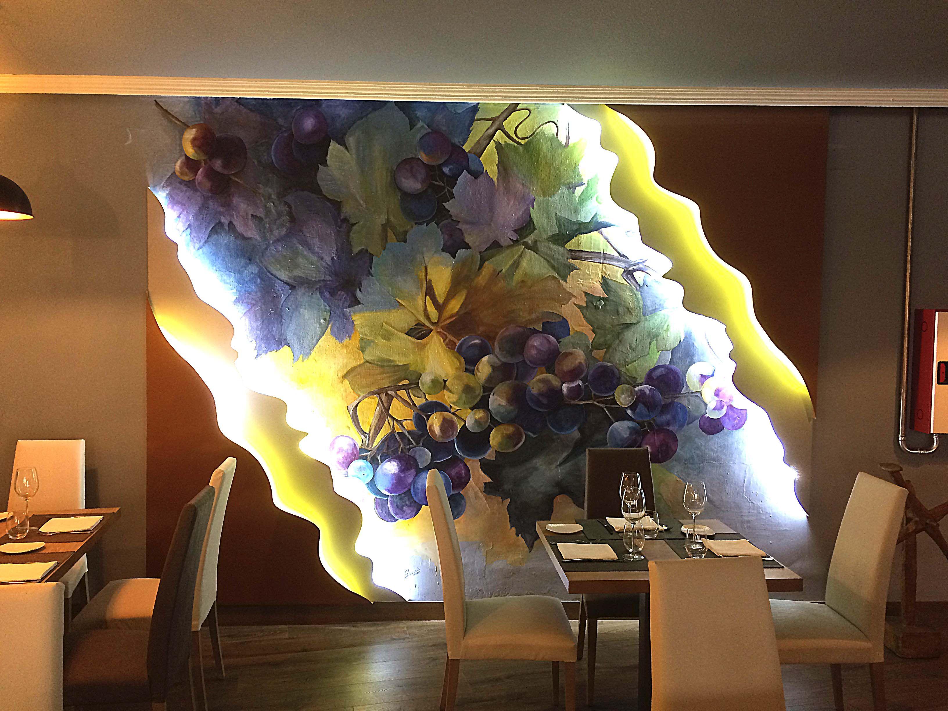 Revista Diez Decoracion Pintura Mural Decoracion Restaurante  # Muebles Renovar Jamundi