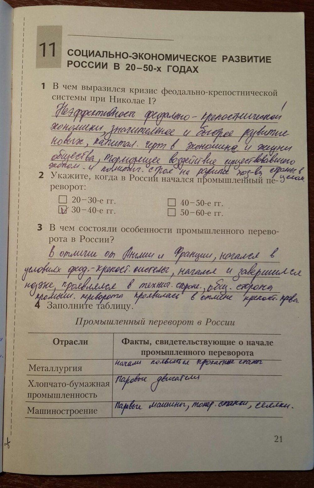 Гдз по истории 9 класс рабочая тетрадь репин онлайн история росии