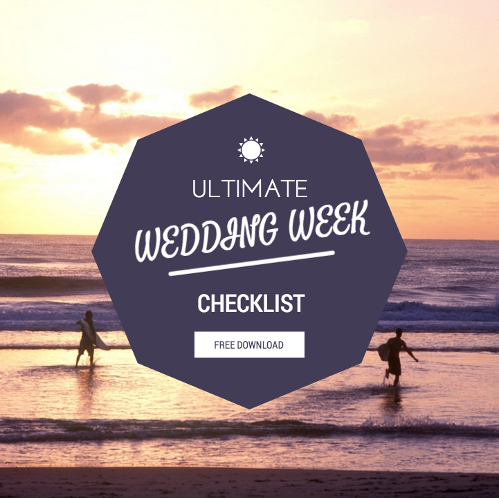 Ultimate Wedding Week Checklist Free Print Out Wedding Planning