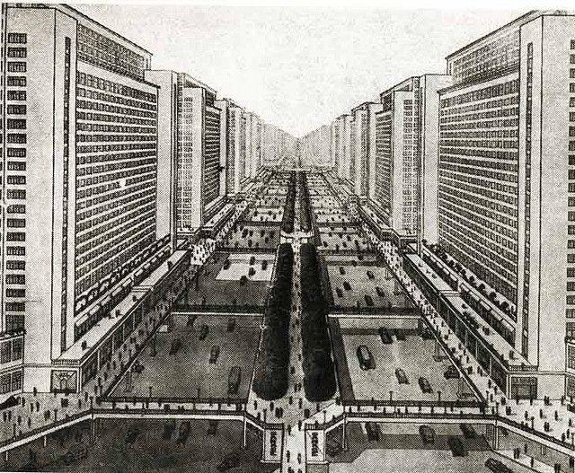 Allá por 1920 cuando había planes urbanos pensados para todos! .- CR 1925 / Plan Voisin. By Le Corbusier