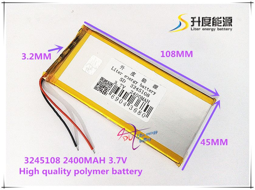 3 7v 2500mah 3245108 Polymer Lithium Ion Li Ion Battery For Tablet Pc Cell Phone Power Bank Phone Power Bank Tablet Powerbank