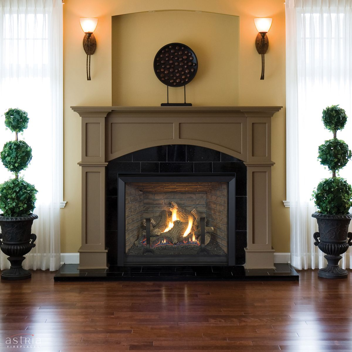 envy traditional gas fireplace by astria a stunning clean face