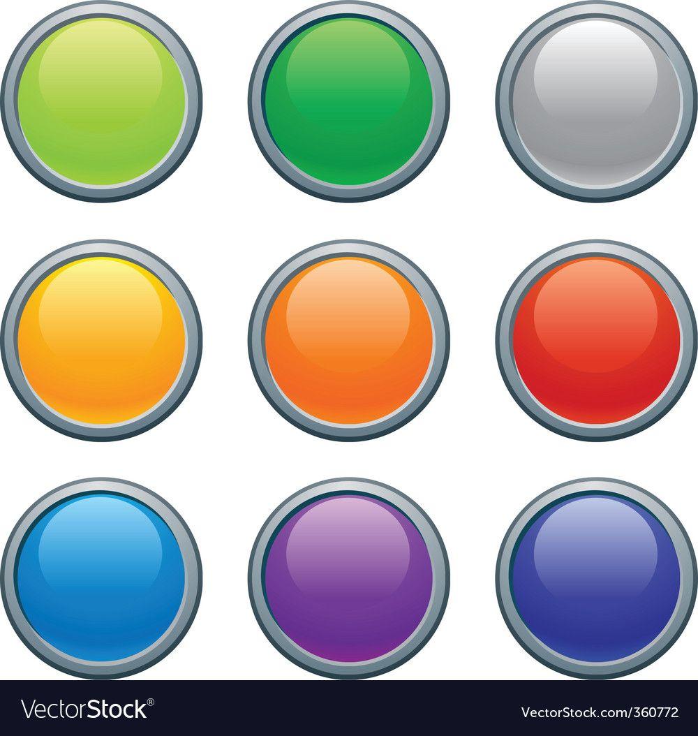 Buttons vector image on в 2020 г (с изображениями) Цветы