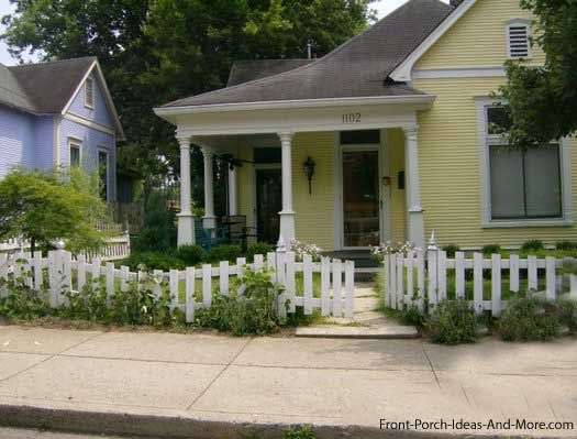 Perfect picket fence designs for your yard cottage front porches perfect picket fence designs for your yard workwithnaturefo