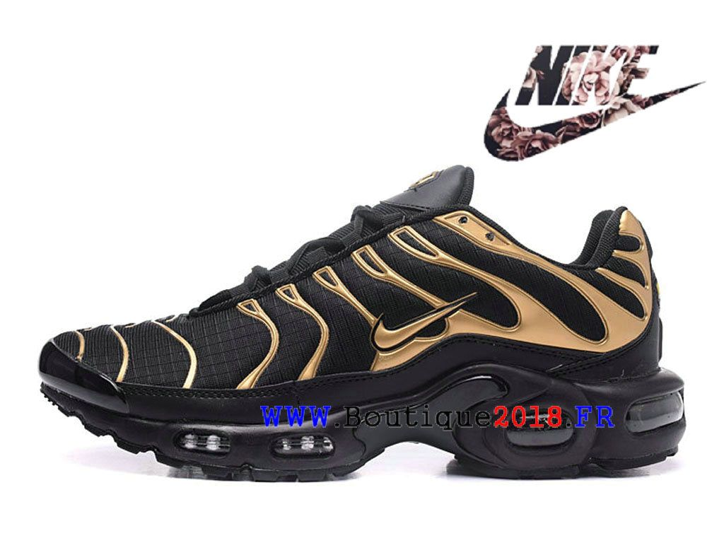 timeless design d83fe 38a88 New Nike Air Max Plus Chaussures Nike Sportswear Pas Cher Pour Homme Noires  Or-1803120205