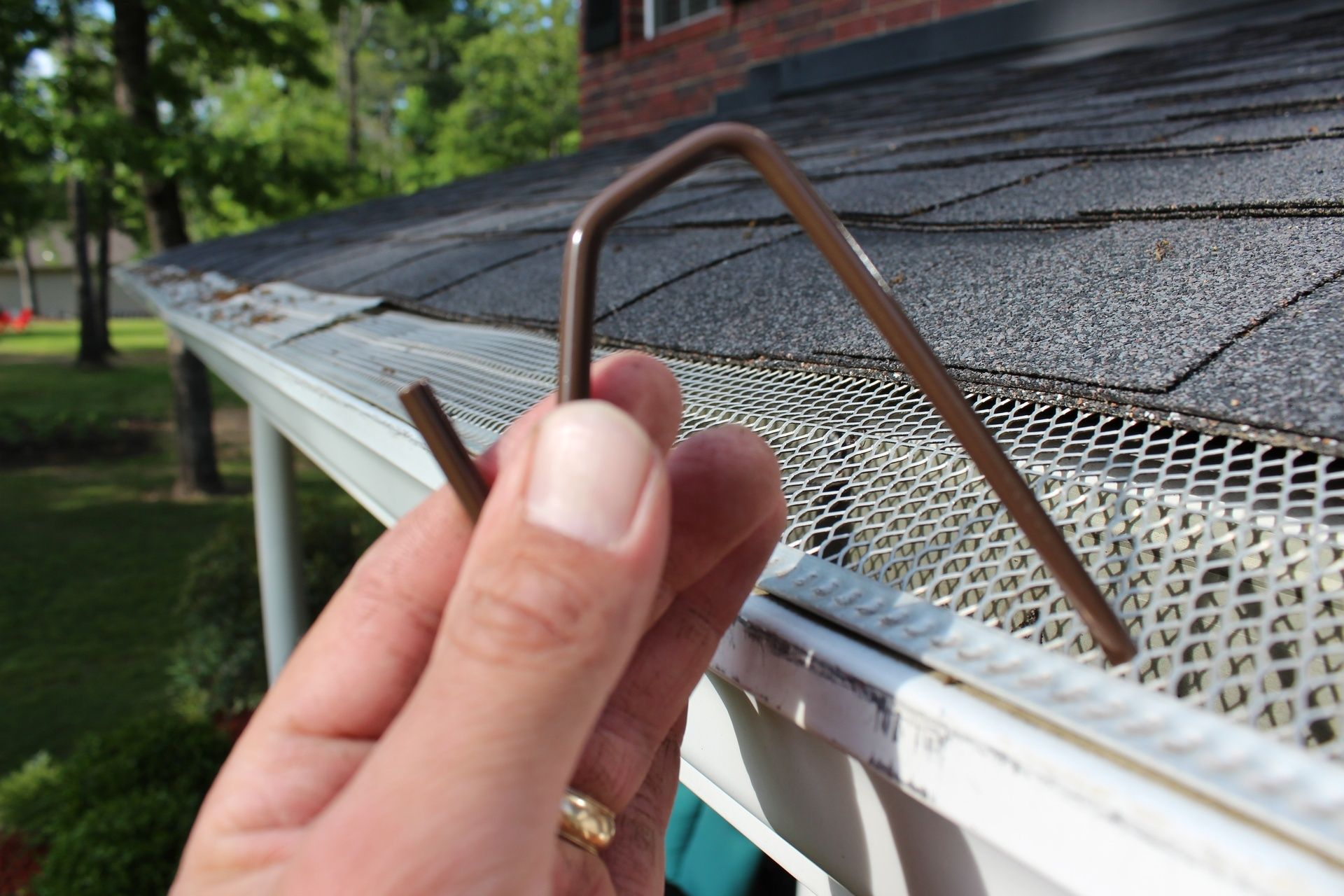 brown christmas hook to hang christmas lights on gutters
