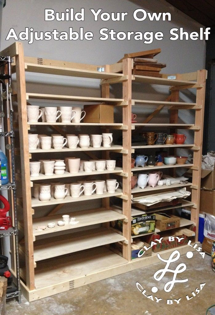 Build Your Own Adjustable Storage Shelf For Pottery For Around $100 In  Materials! Takes About