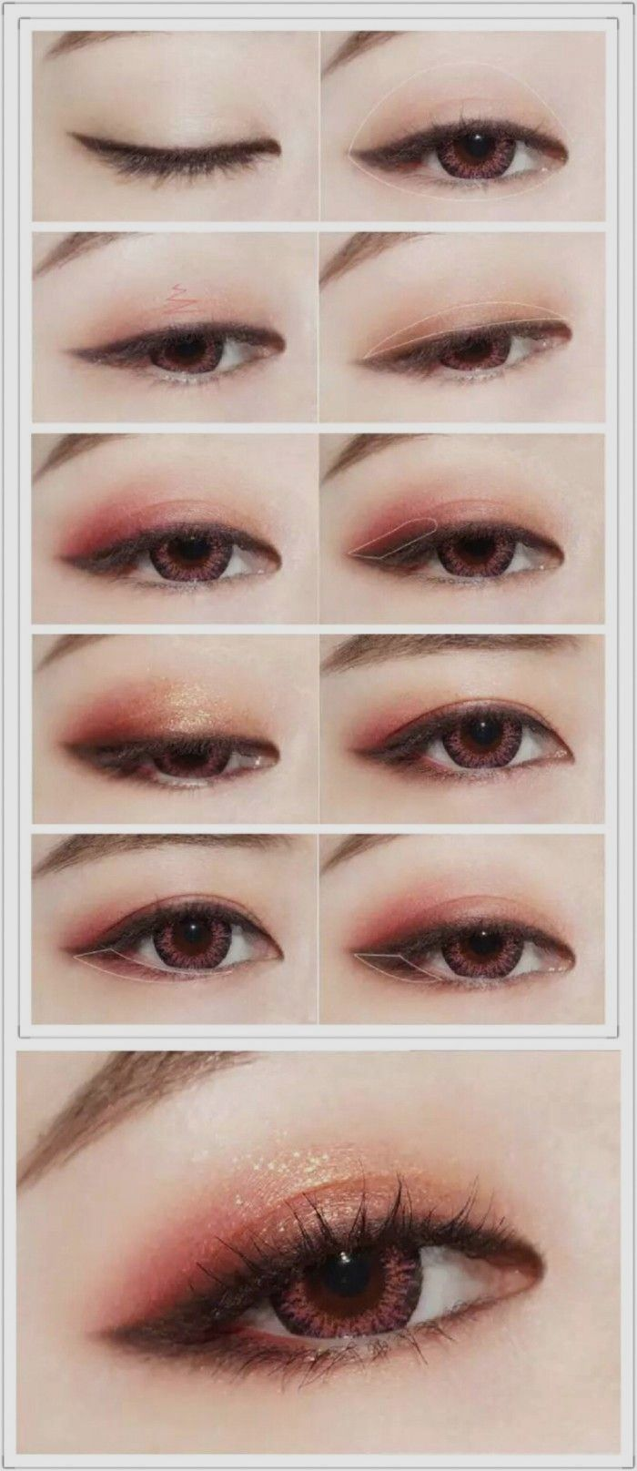 Korean Makeup Hacks Layering Eyeliner And Shadow Could Be Used To Make Eyes Look Bigger Apply Your Prime Korean Eye Makeup Korean Makeup Tips Asian Eye Makeup