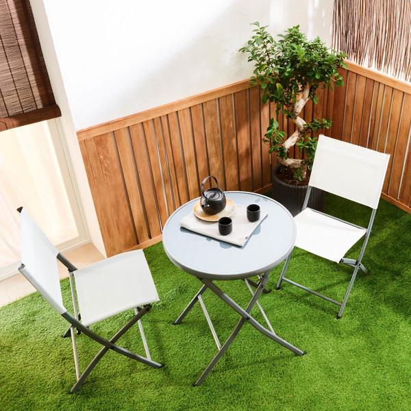 Cadeira Dobrável Aço Emys Branca Naterial Móveis Para Jardim Decoração Decoração Ao Ar Livre