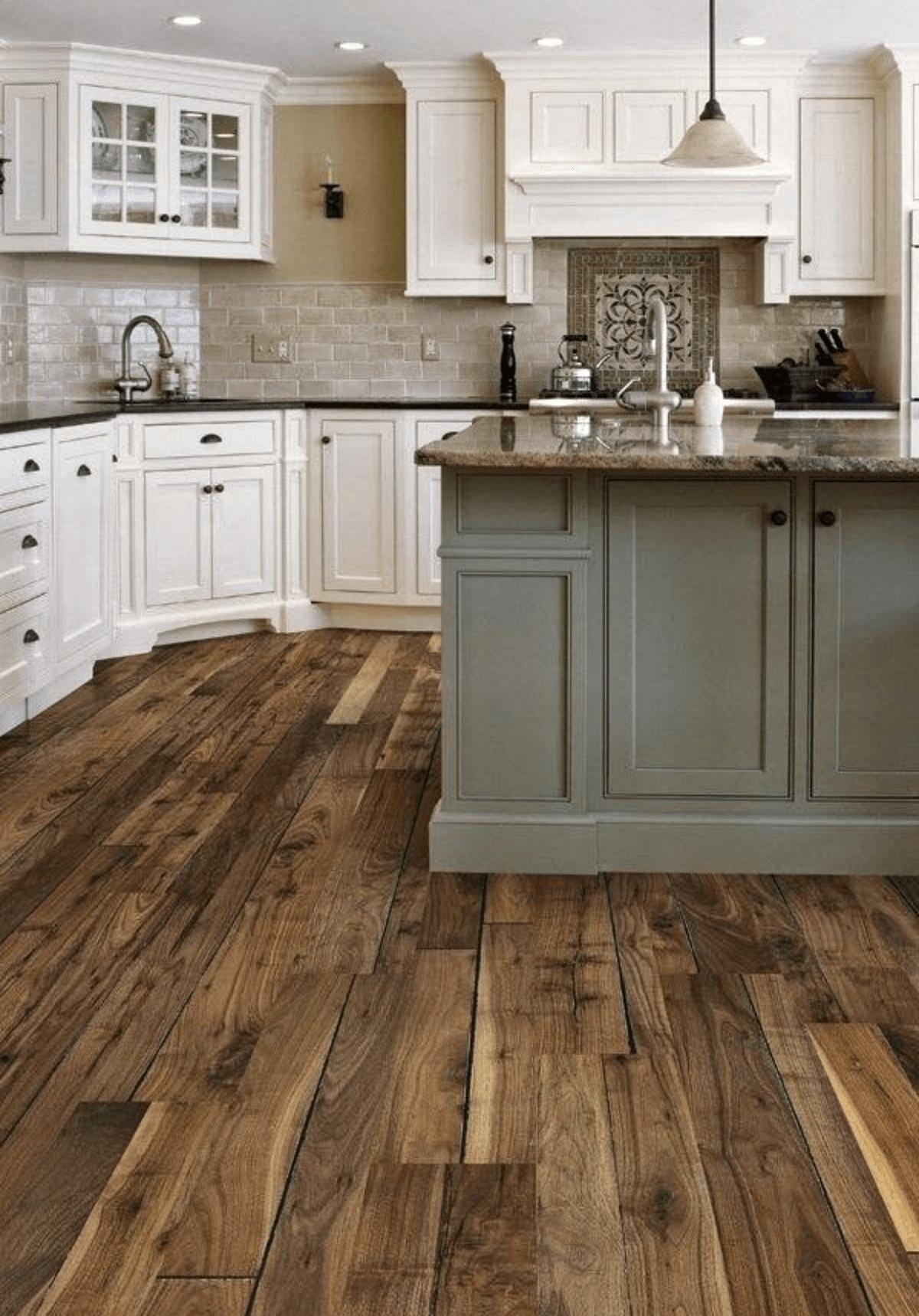 Pacific Northwest Wood Laid Kitchen
