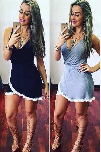 vestido franja curto